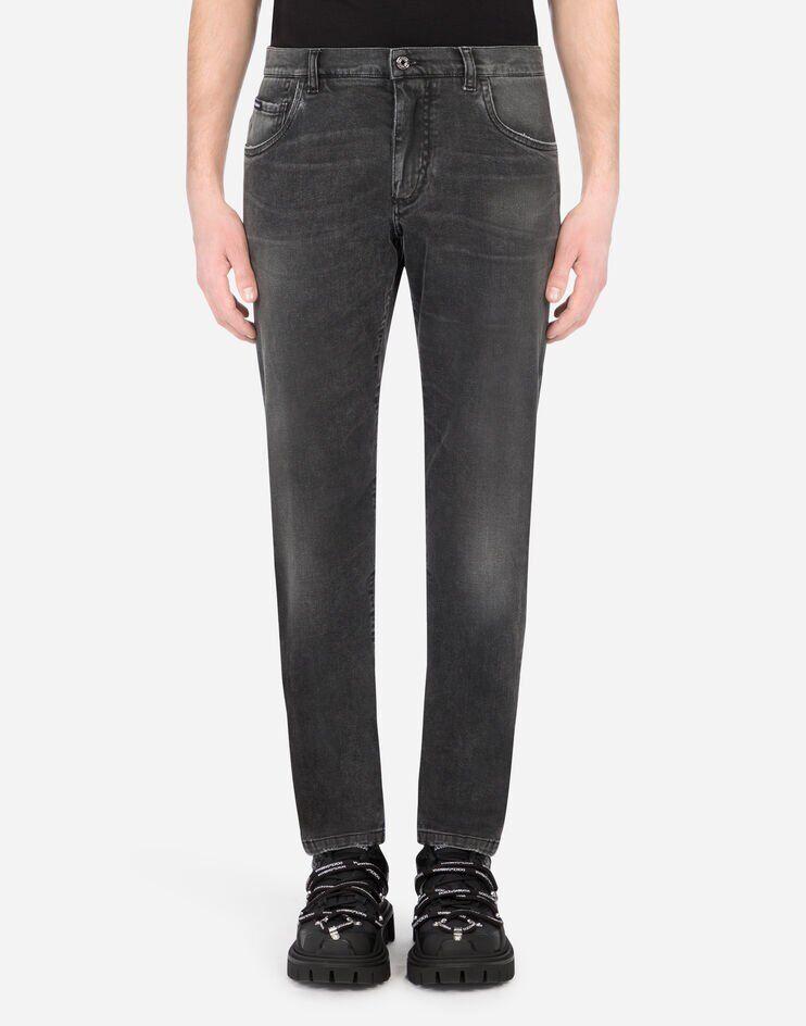 Slim Stretch Washed Gray Jeans - Dolce & Gabbana