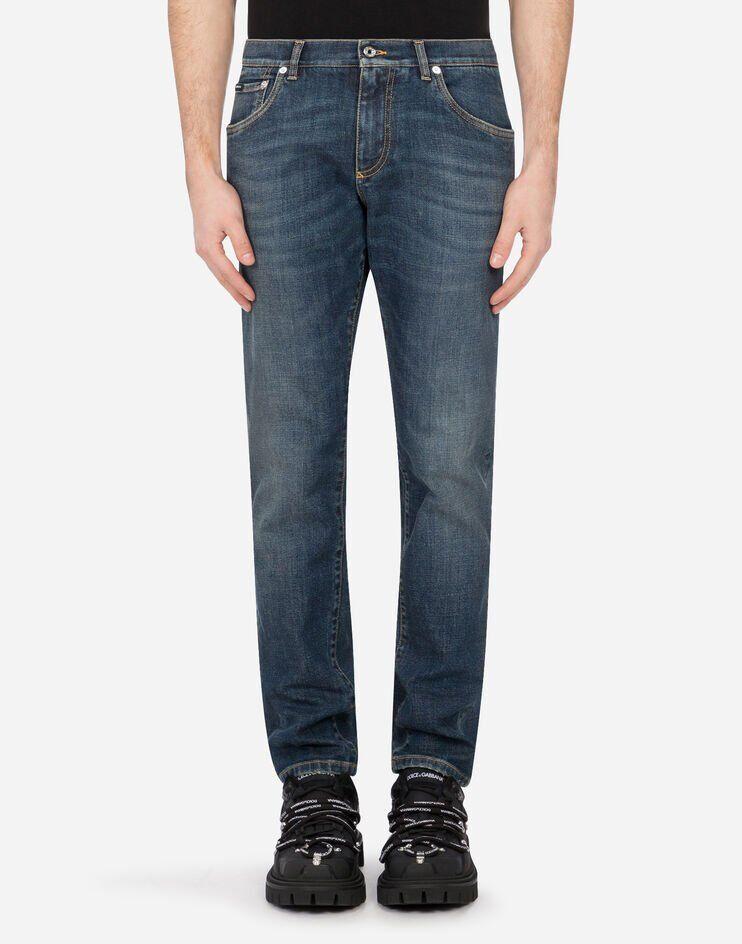 Slim Stretch Washed Blue Jeans - Dolce & Gabbana