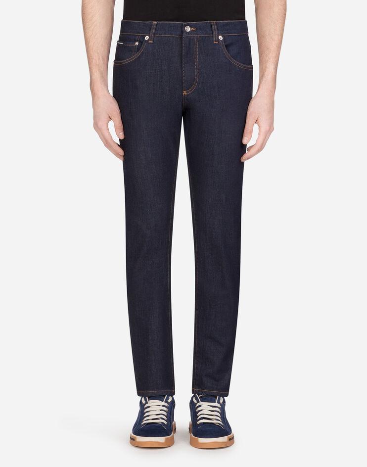 Slim Stretch Jeans With Patch - Dolce & Gabbana