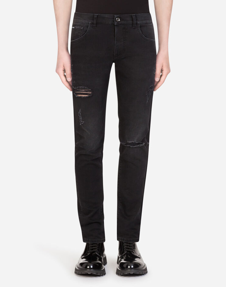 Washed Stretch Skinny Jeans - Dolce & Gabbana