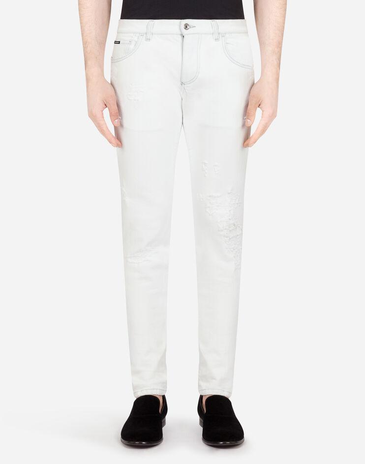 White Stretch Skinny Jeans - Dolce & Gabbana