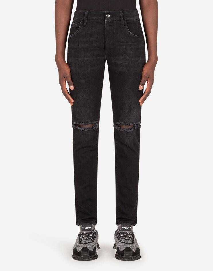 Washed Black Stretch Skinny Jeans - Dolce & Gabbana