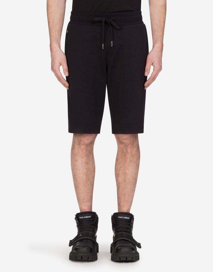 Bermuda Jogging In Cotone Con Patch - Dolce & Gabbana