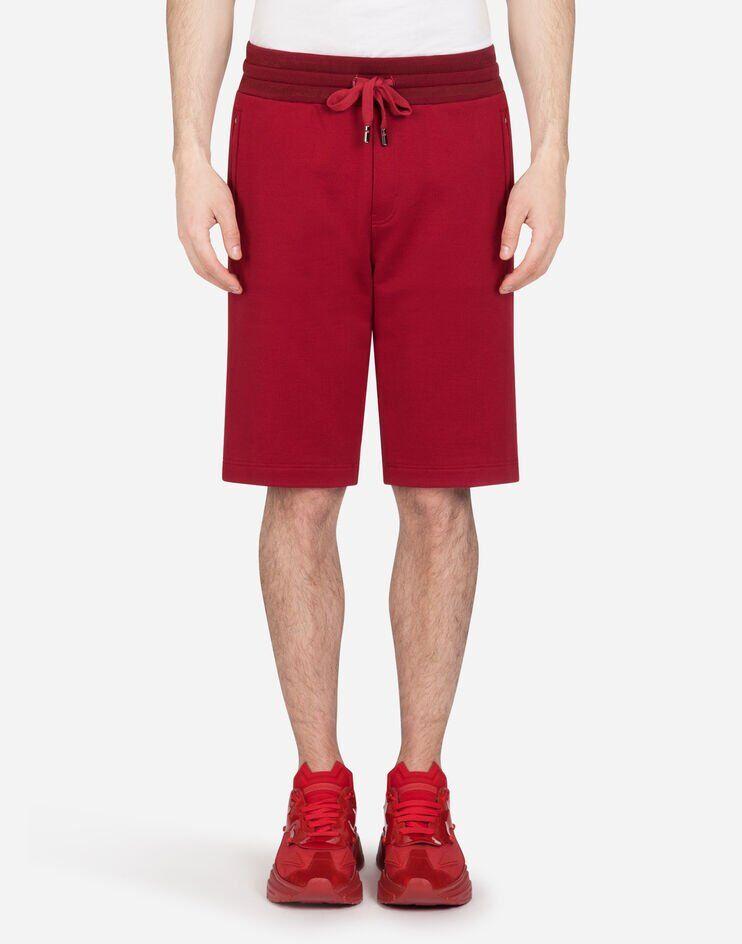 Bermuda Jogging Jersey Con Placchetta Logata - Dolce & Gabbana