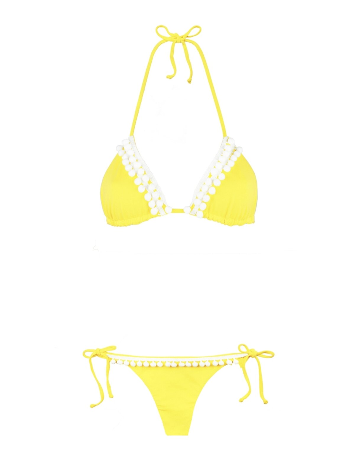 Bikini Giallo Con Pompon - MC2 Saint Barth