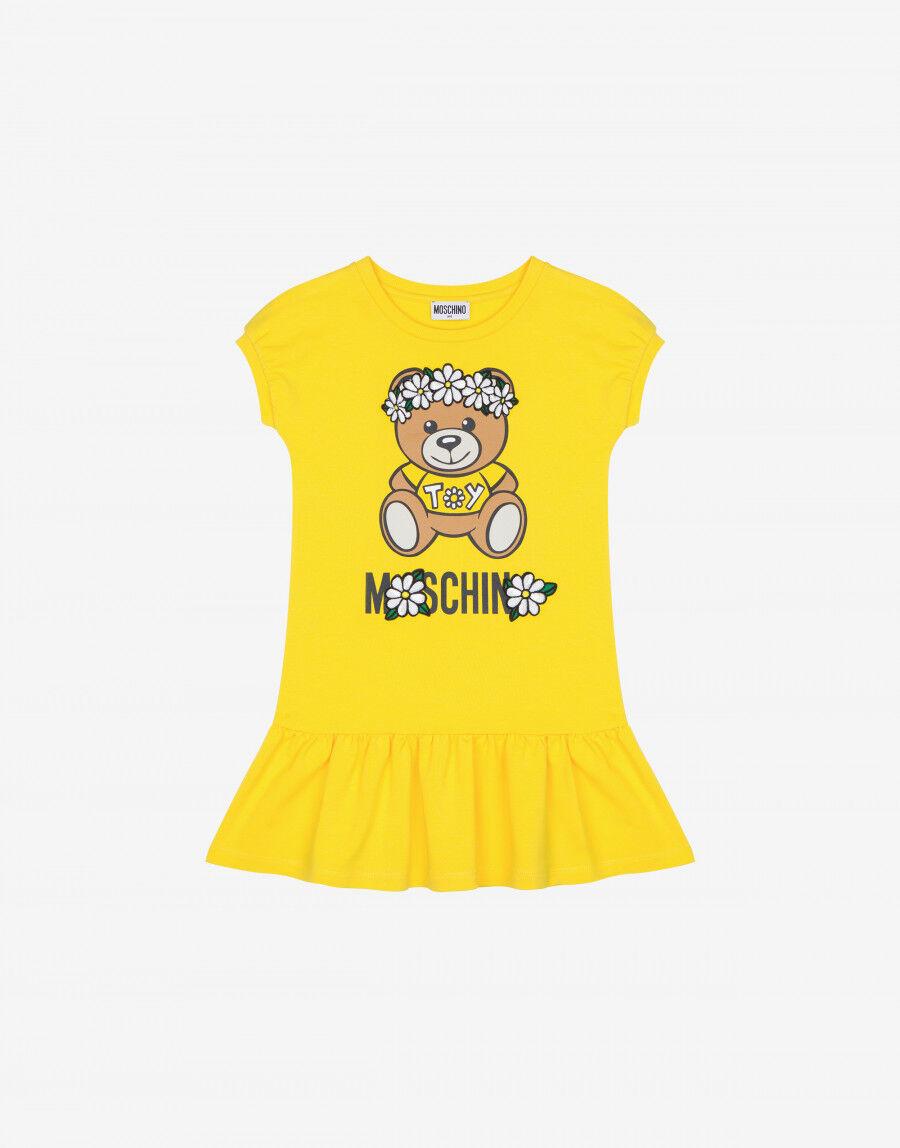 Abito In Felpa Daisy Teddy Bear - Moschino Junior