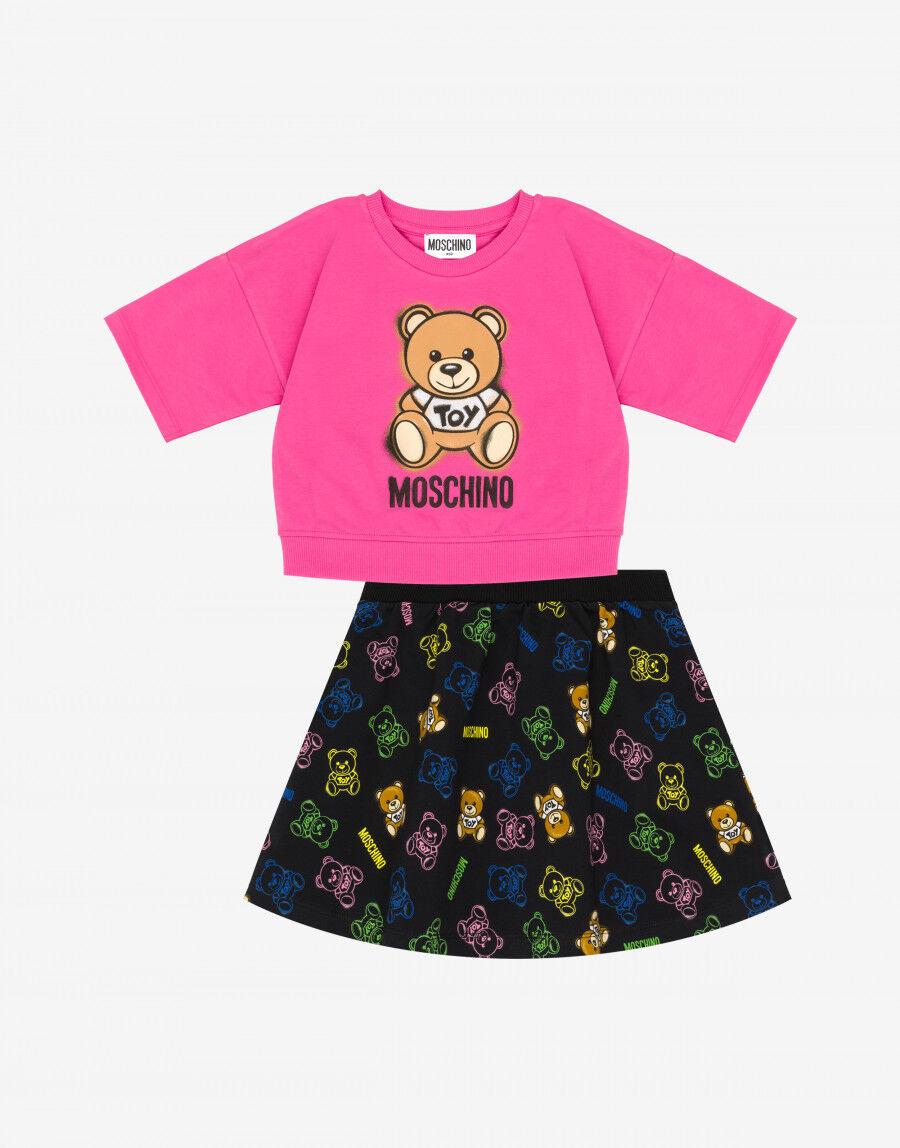 Completo T-Shirt E Gonna Moschino Teddy Bear - Moschino Junior