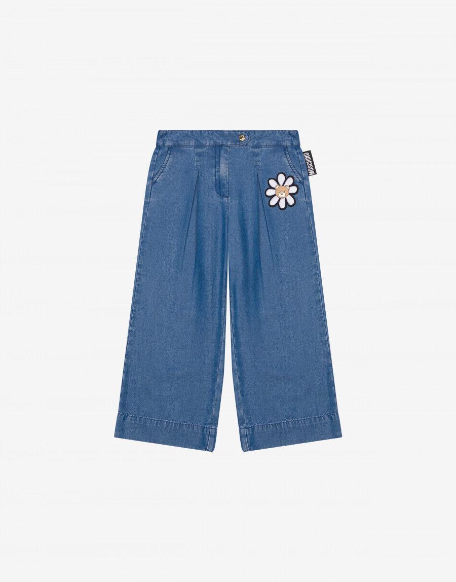 Pantalone Palazzo Daisy Teddy Patch - Moschino Junior