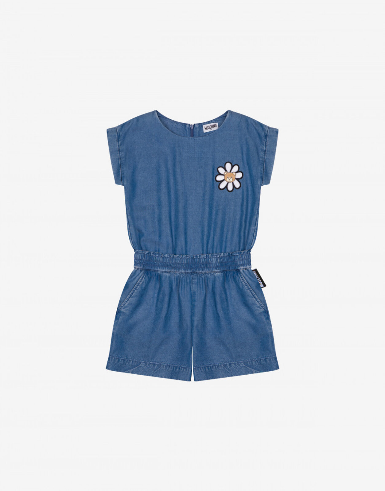 Tuta In Lyocell Daisy Teddy Patch - Moschino Junior