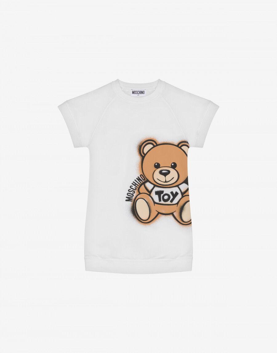 Abito In Felpa Spray Teddy Bear - Moschino Junior