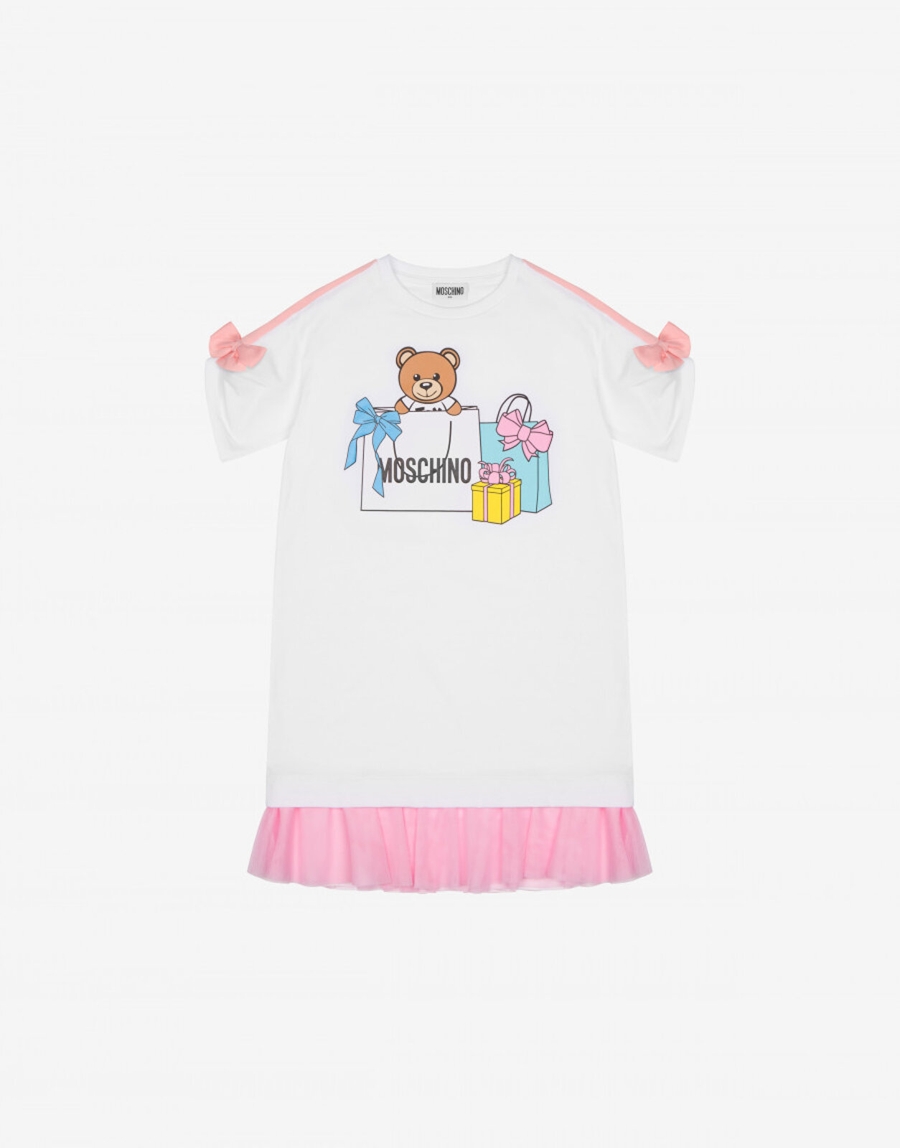 Abito In Jersey Shopping Teddy Bear - Moschino Junior