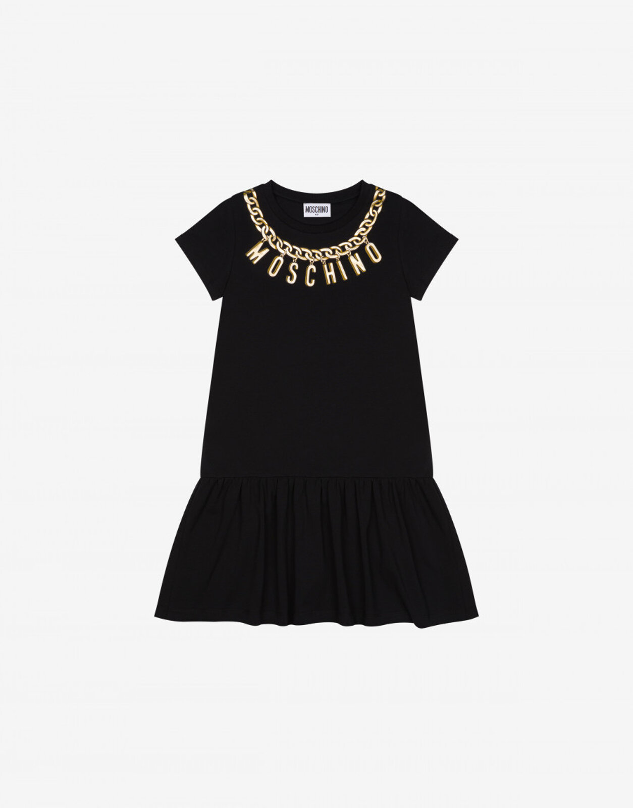 Abito In Jersey Lettering Charm - Moschino Junior