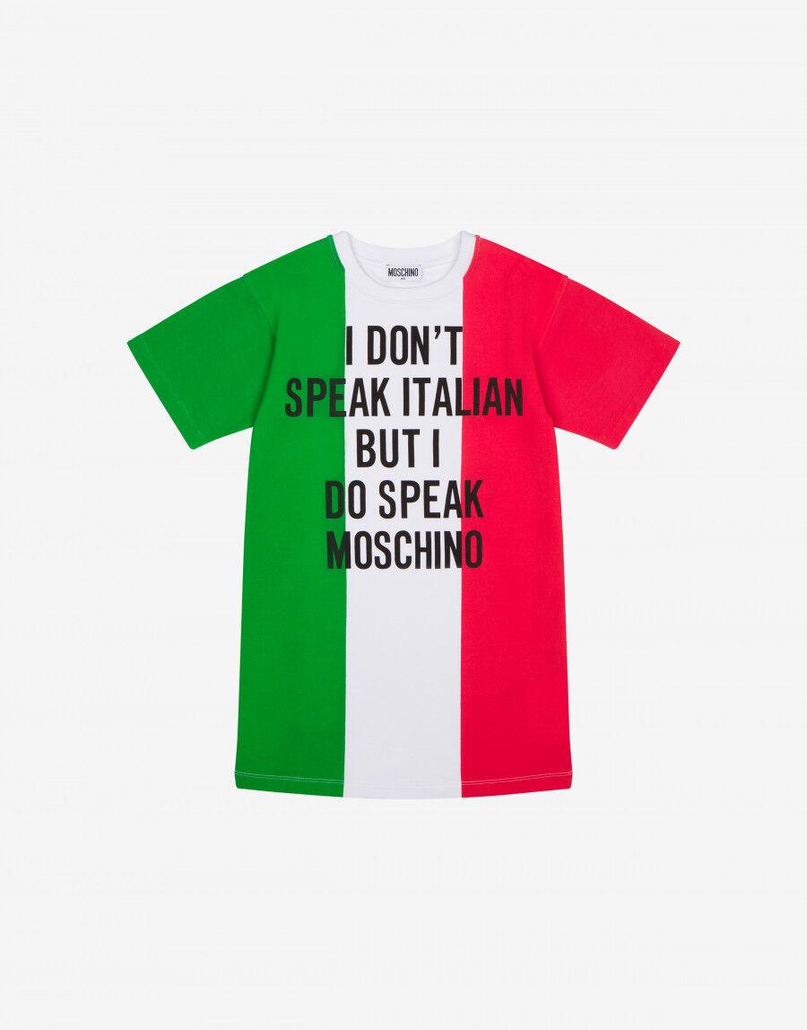 Abito Tricolore Italian Slogan - Moschino Junior