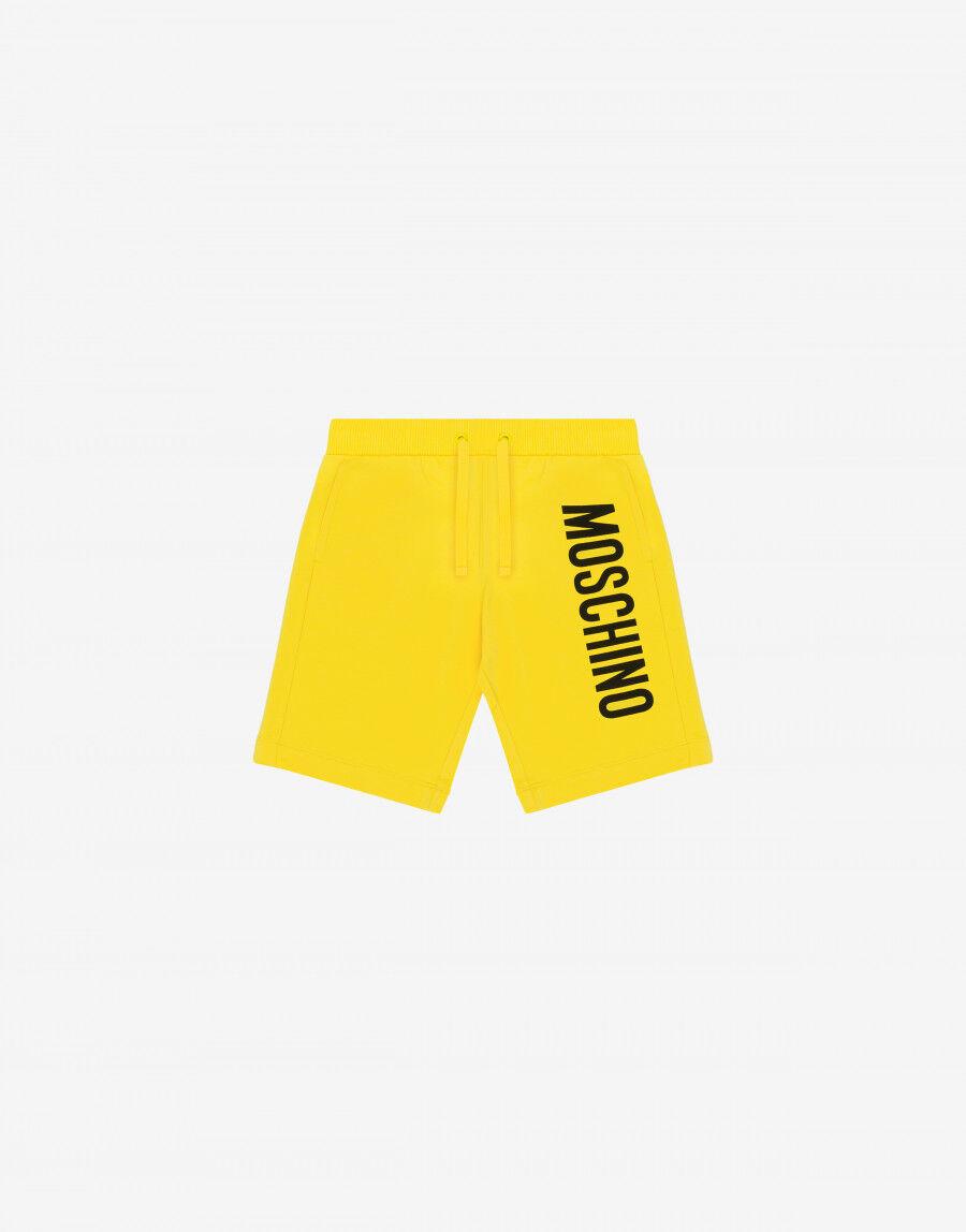 Short In Felpa Di Cotone Con Logo - Moschino Junior