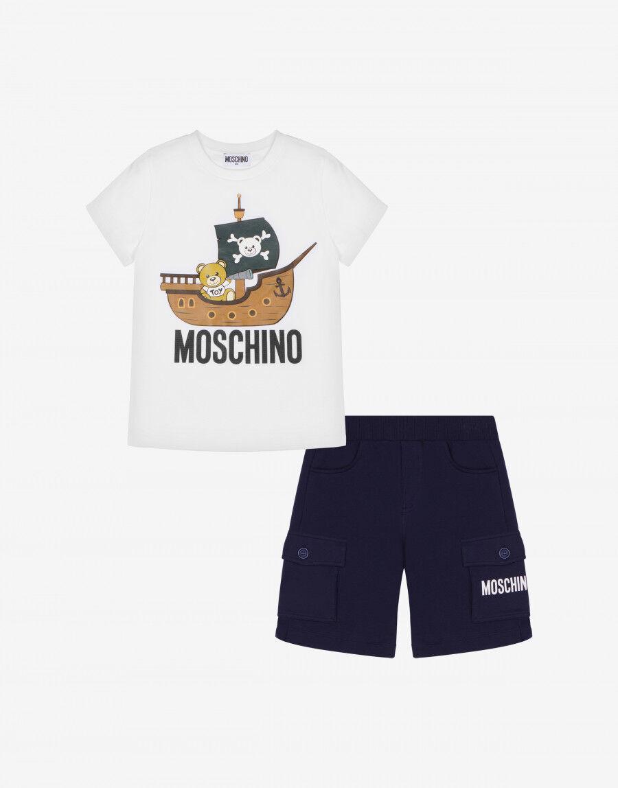 Completo T-Shirt E Short Pirate Teddy Bear - Moschino Junior