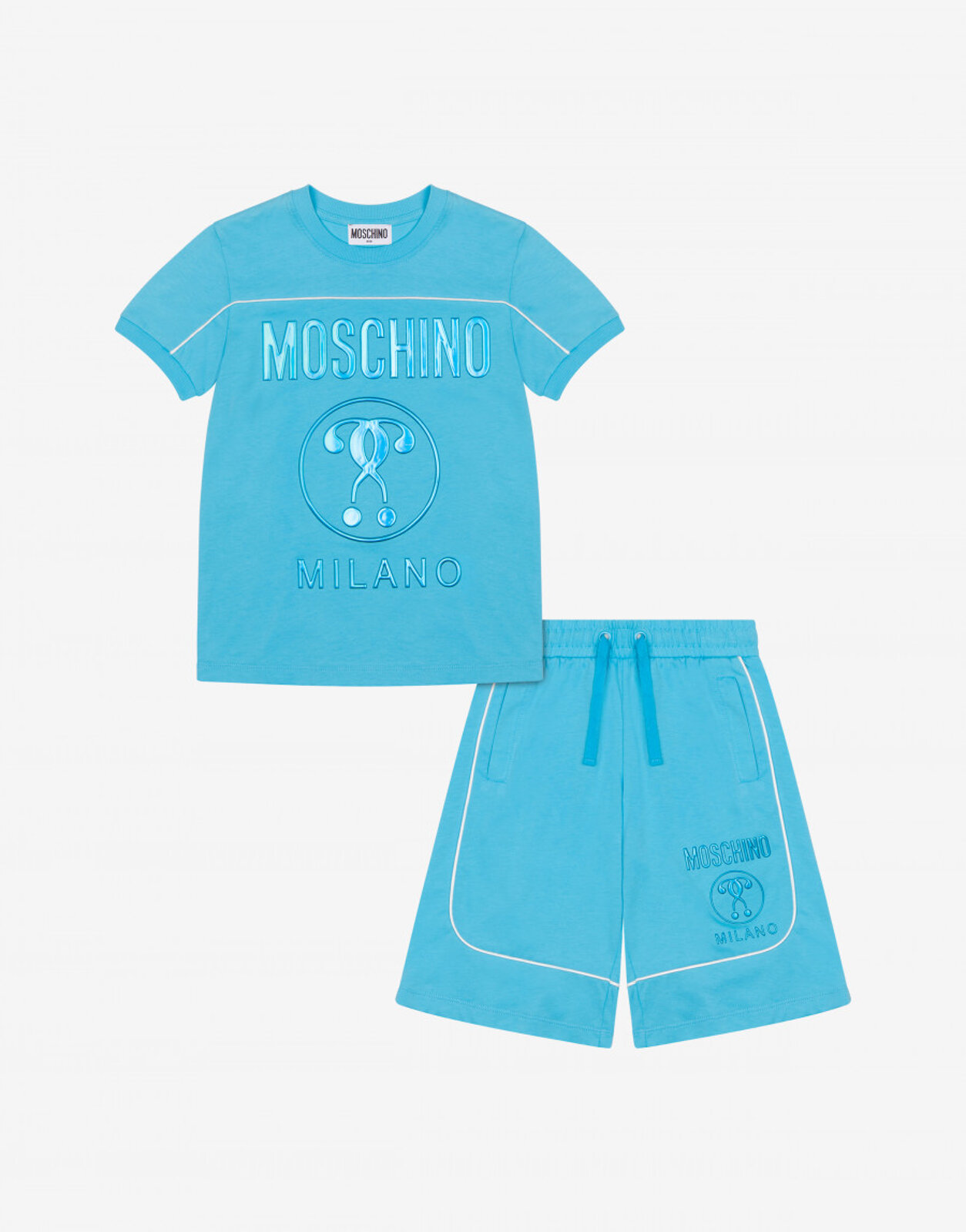 Completo T-Shirt E Short Double Question Mark - Moschino Junior