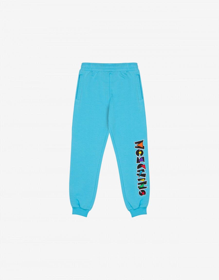 Pantalone Jogging In Felpa Geometric Logo - Moschino Junior