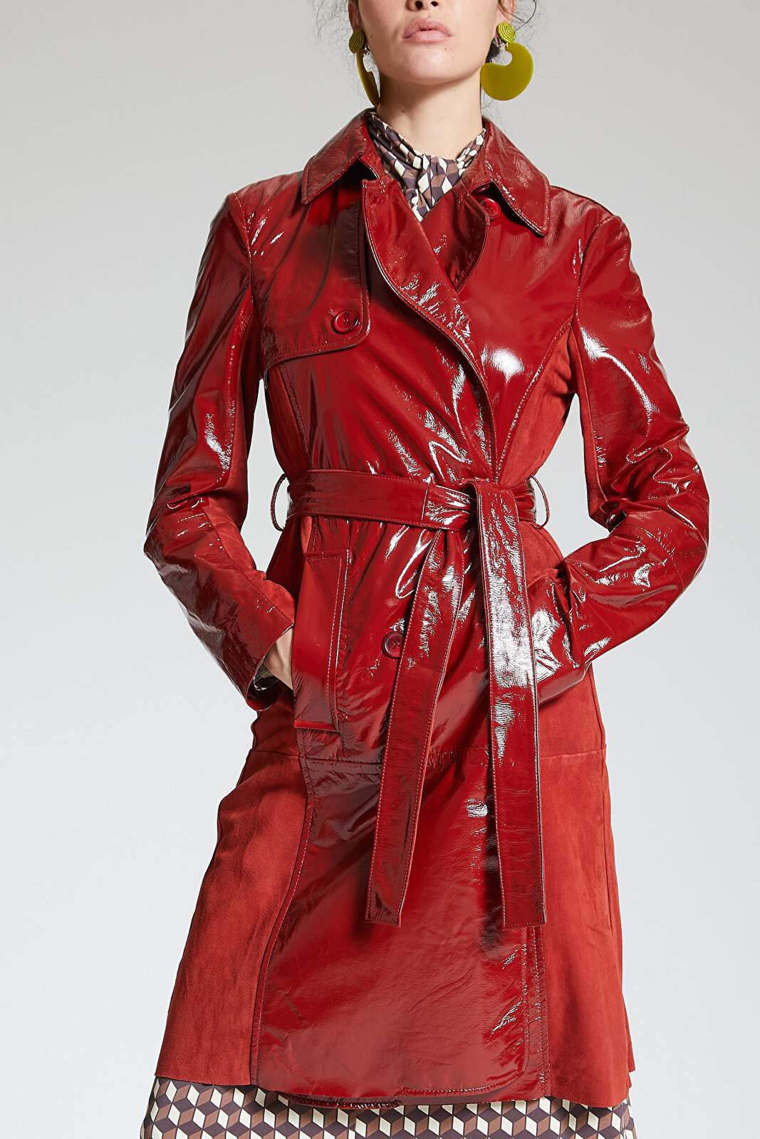 Cappotto Gloss Coated Suede - Maliparmi