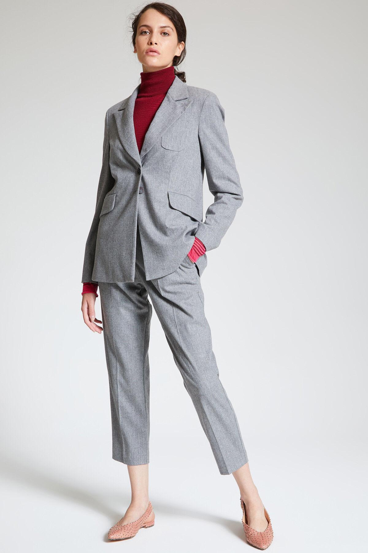 Giacca Pinstripe Wool - Maliparmi