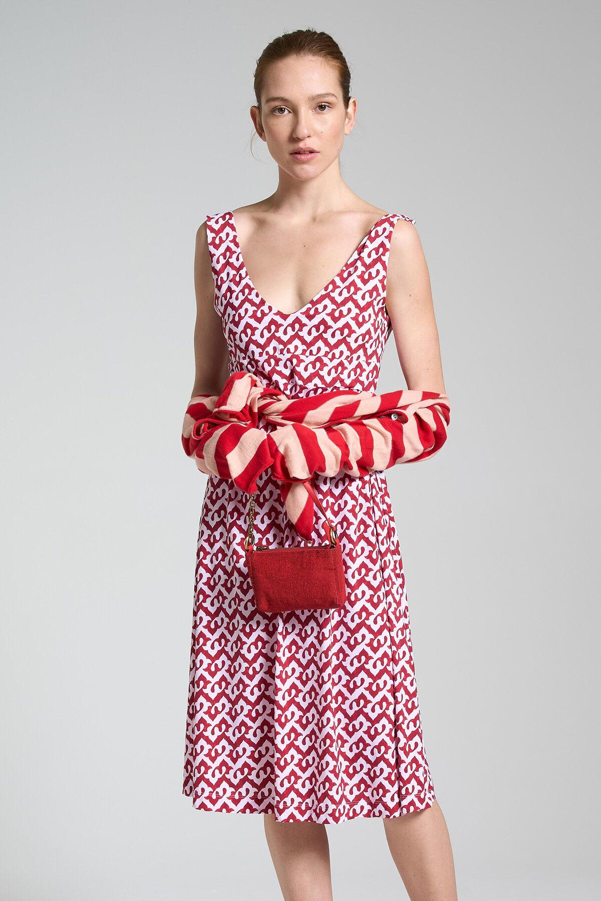 Ceres Drop Jersey Dress - Maliparmi