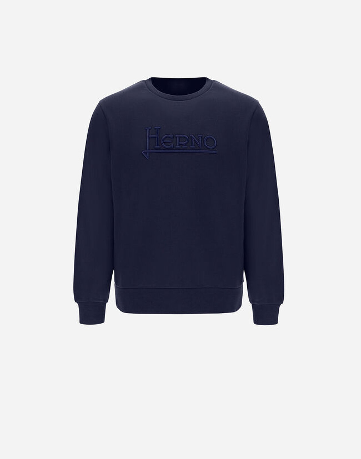 Cotton Sweatshirt With Embroidery - Herno