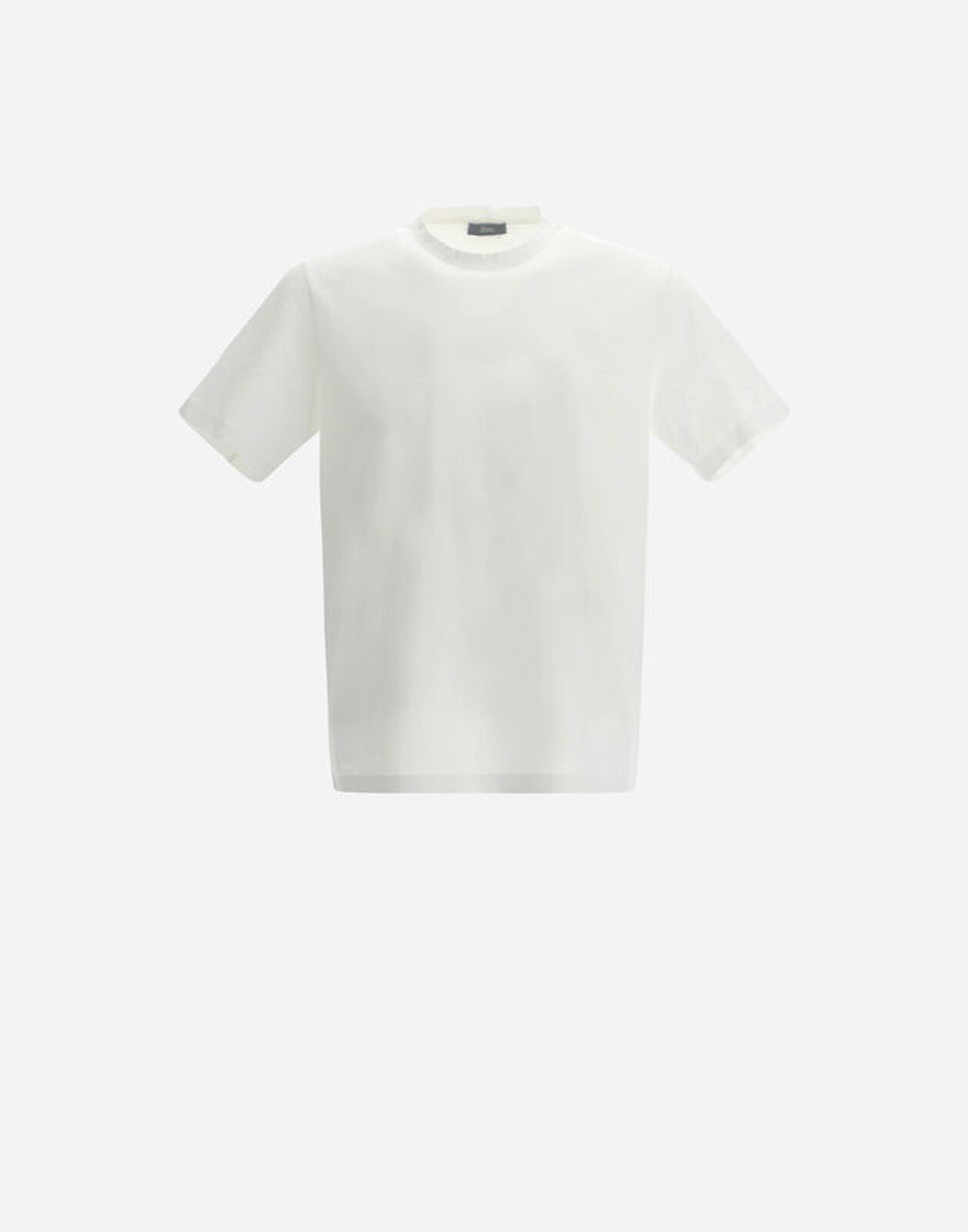 Superfine Cotton Stretch T-Shirt With Back Cuts - Herno