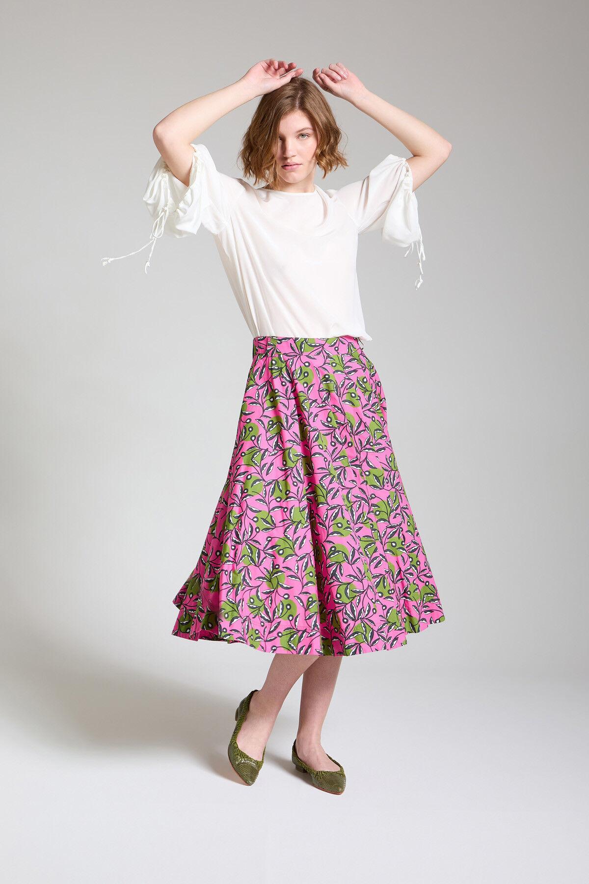 Dotty Ramage Poplin Skirt - Maliparmi