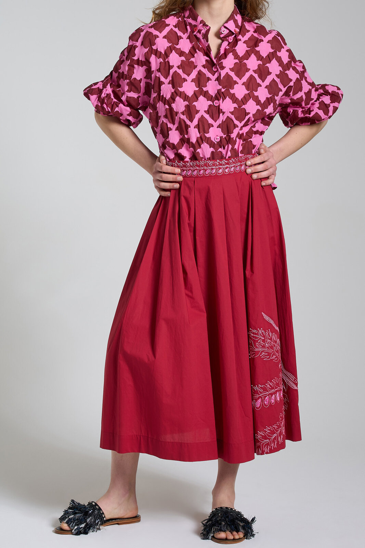 Gonna Embroidered Popeline - Maliparmi