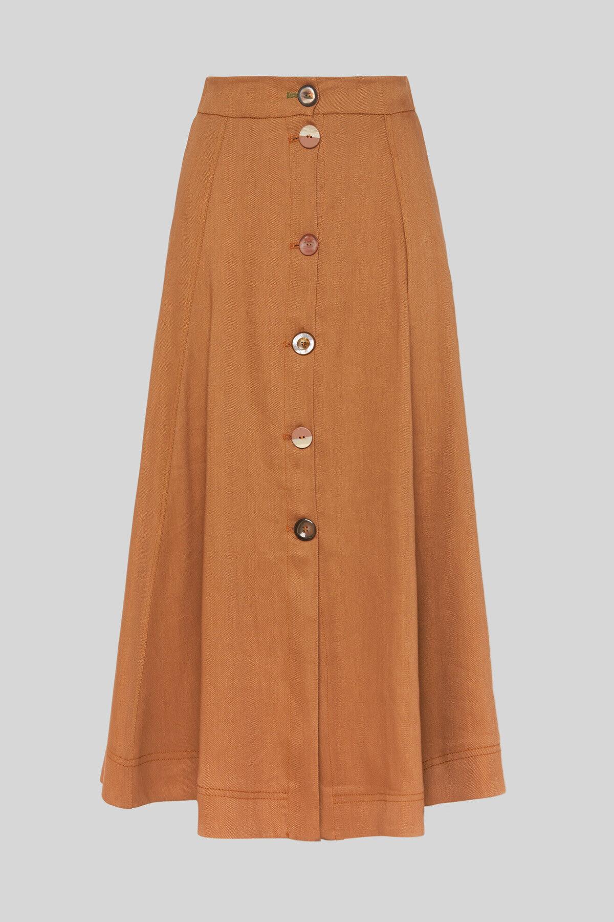 Diagonal Linen skirt - Maliparmi