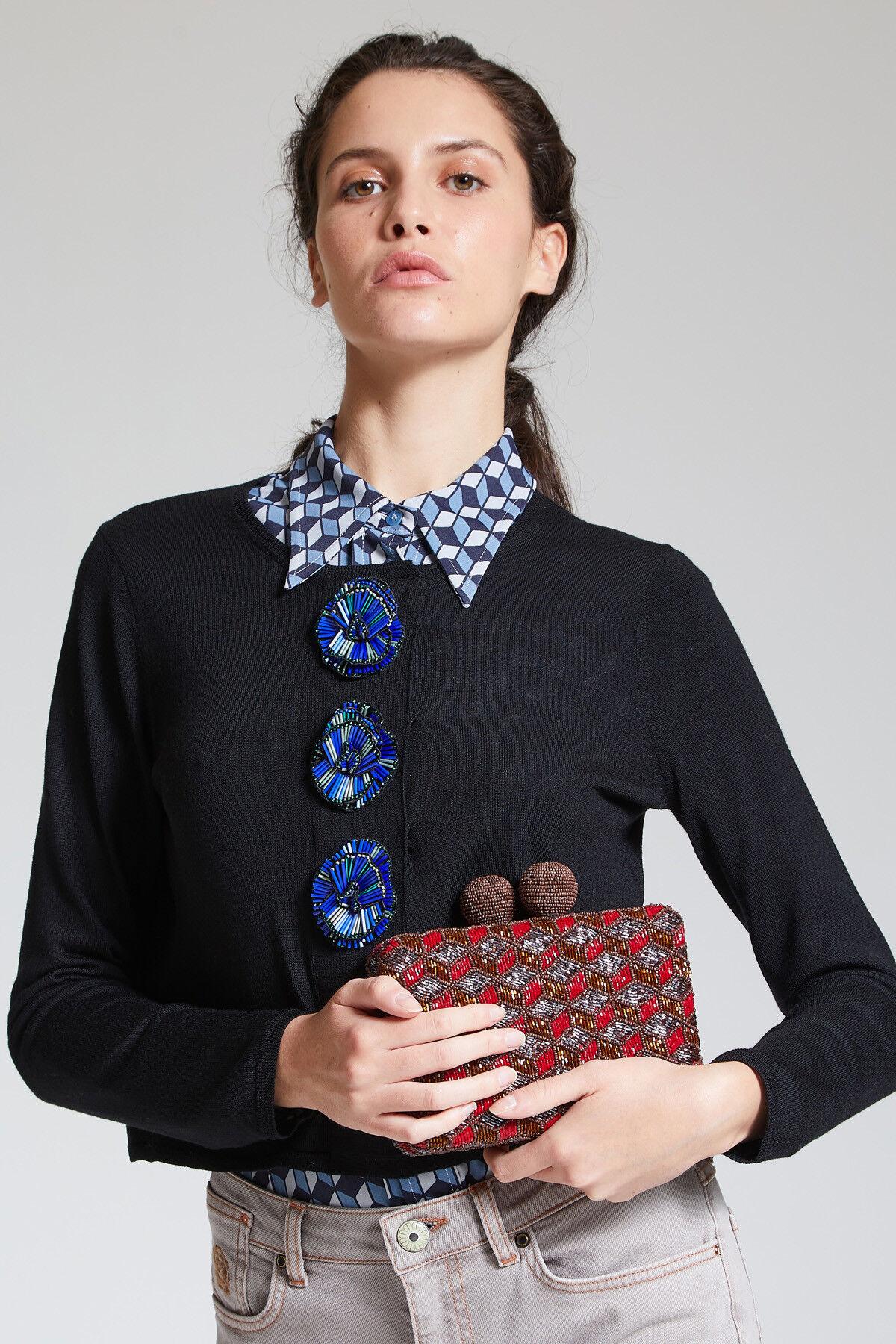Cardigan Embroidery Flower - Maliparmi