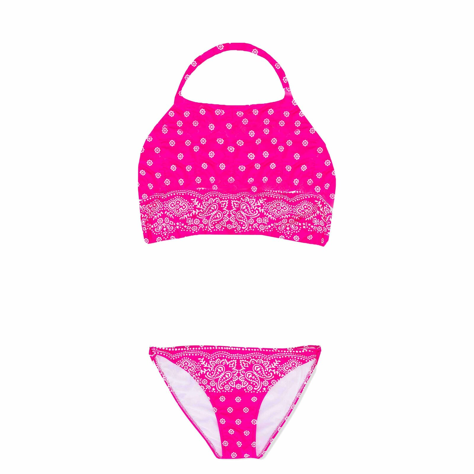 Bikini Bambina Bandanna Flowers - MC2 Saint Barth Junior