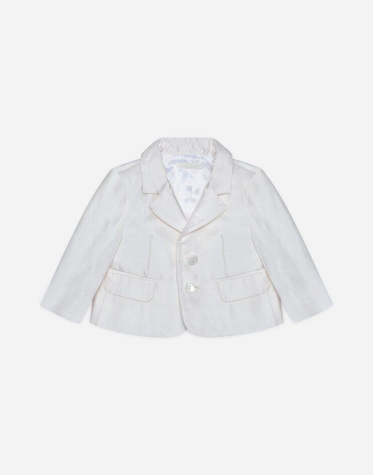 Giacca Monopetto In Shantung Di Seta - Dolce & Gabbana Junior