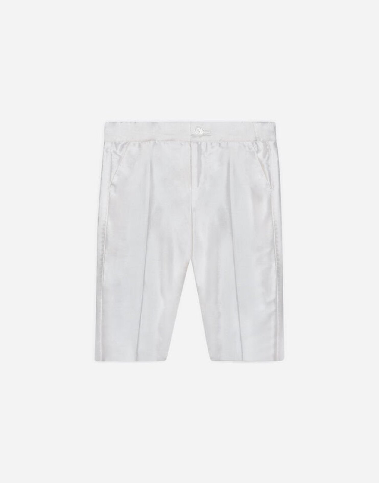 Pantalone Formale In Shantung Di Seta - Dolce & Gabbana Junior