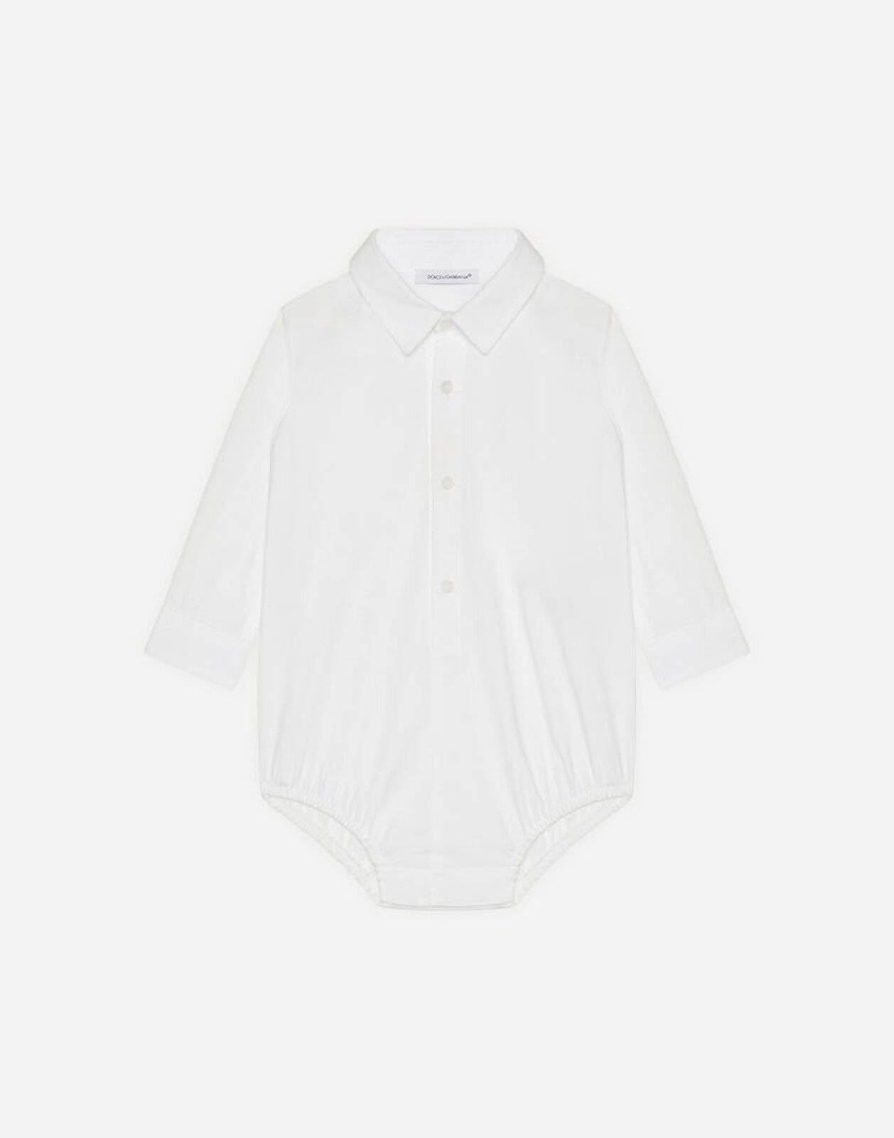 Body Camicia In Popeline Stretch - Dolce & Gabbana Junior