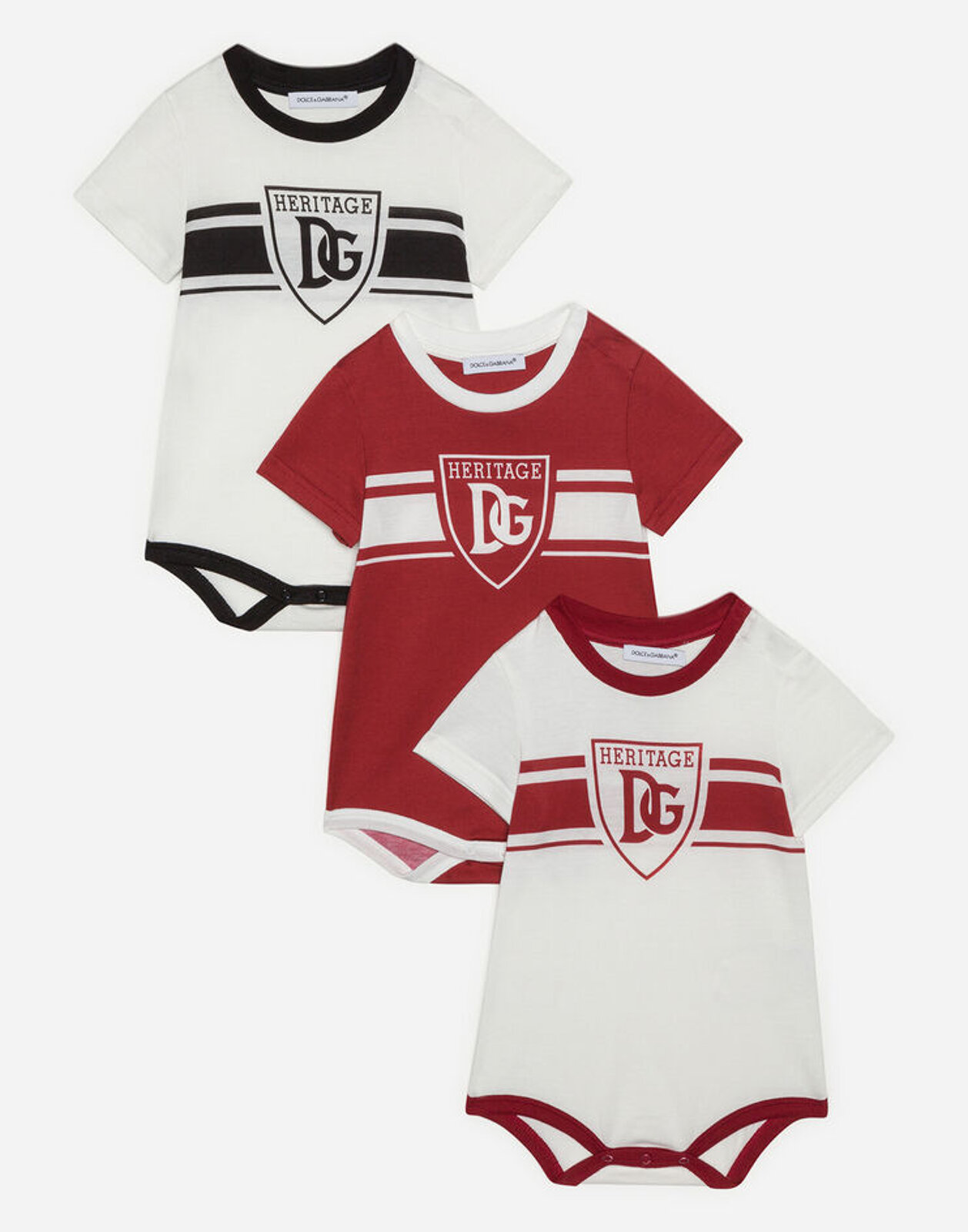 Set Regalo 3 Body In Jersey Stampa Dna - Dolce & Gabbana Junior