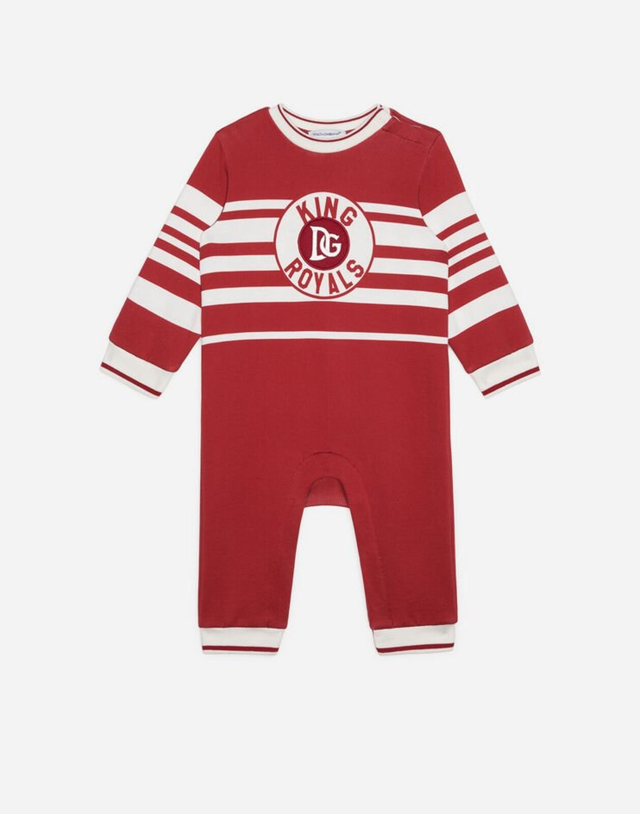 Tutina In Jersey Stampa King Royals - Dolce & Gabbana Junior