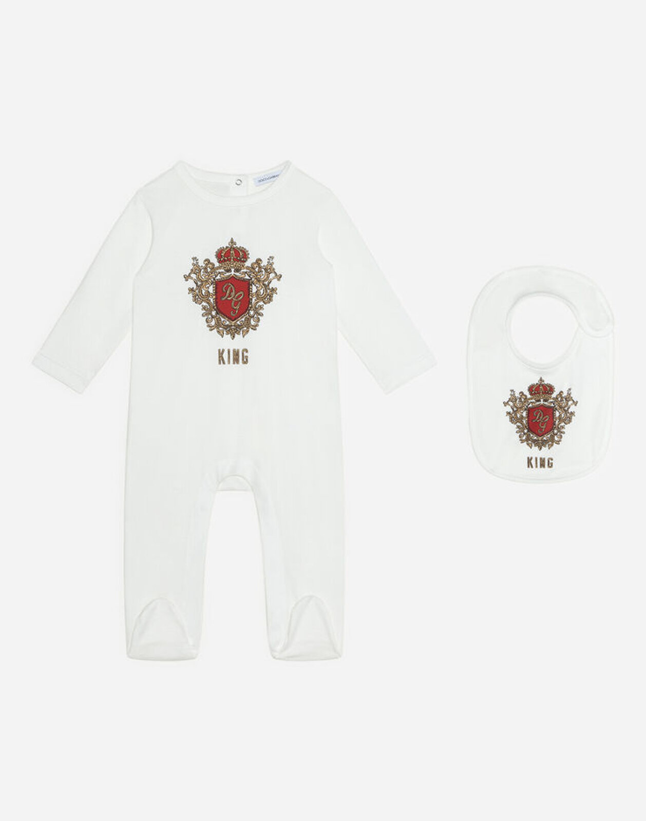 Set Regalo 2 Pezzi In Jersey Stampa Dg King - Dolce & Gabbana Junior