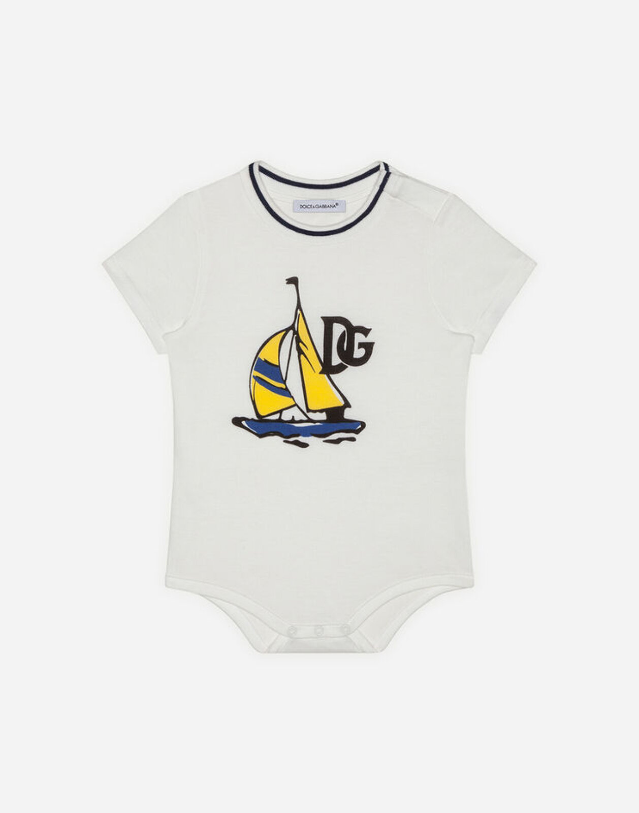 Body In Jersey Stampa Vele - Dolce & Gabbana Junior