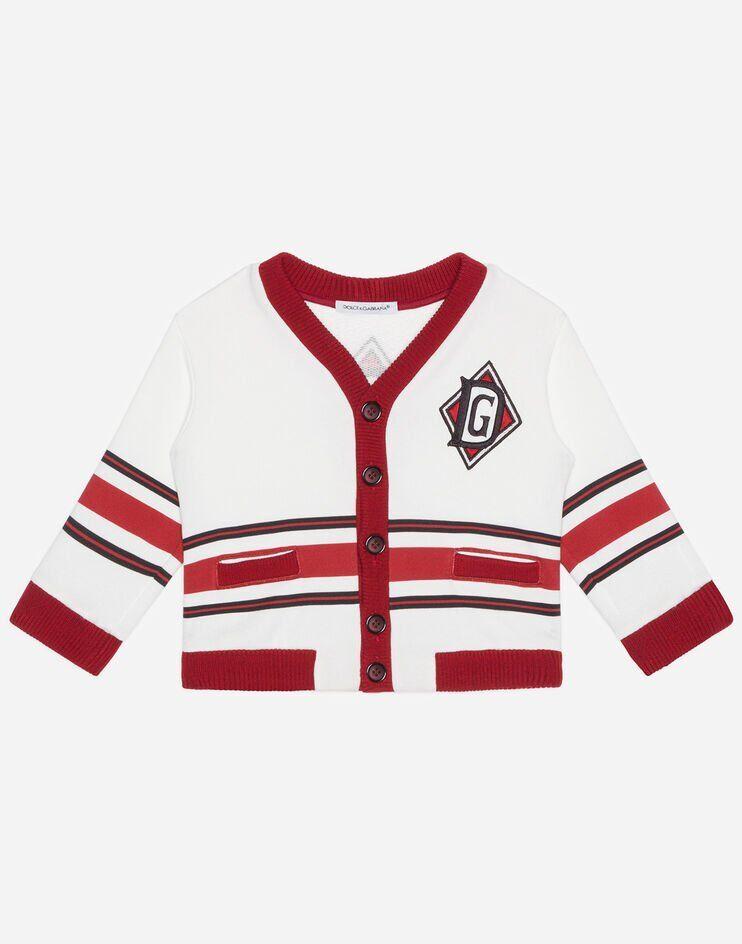 Cardigan In Jersey Stampa Dna - Dolce & Gabbana Junior