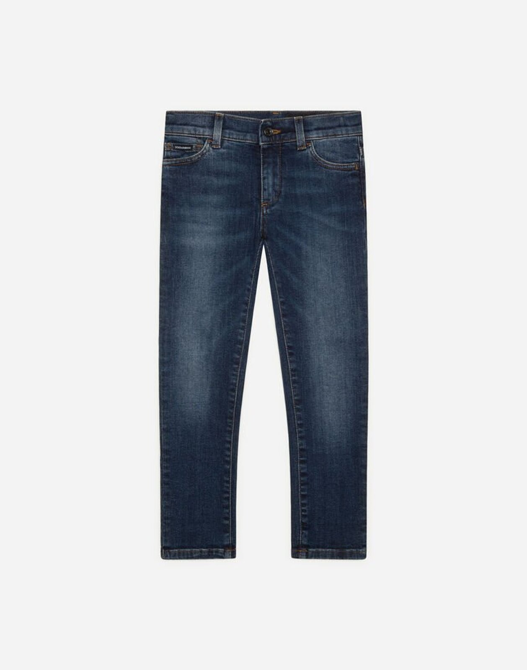 Jeans Slim Stretch Blu Scuro - Dolce & Gabbana Junior