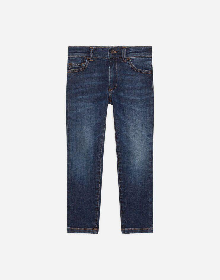 Jeans Slim Stretch Ricamo Logo Dg - Dolce & Gabbana Junior