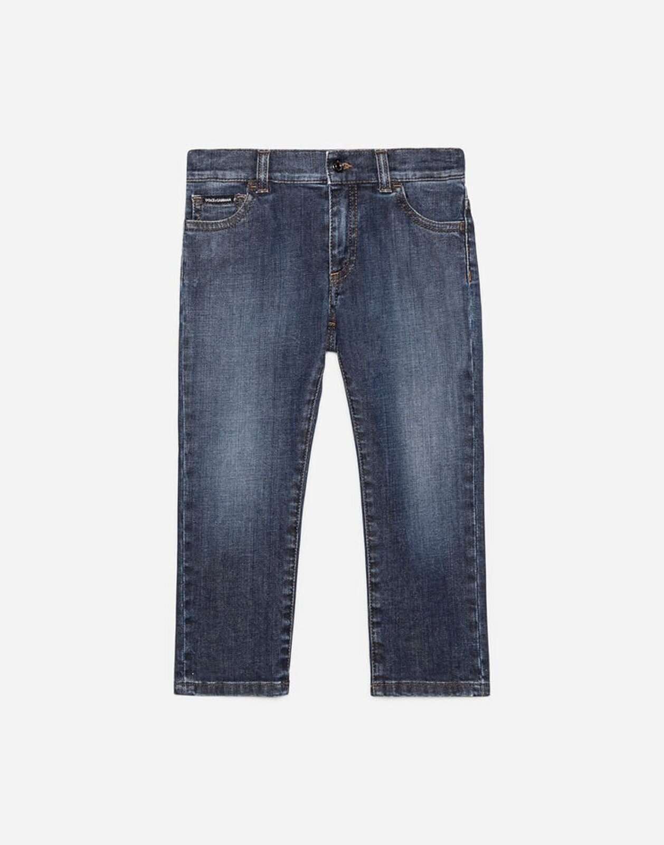 Jeans Regular In Denim - Dolce & Gabbana Junior