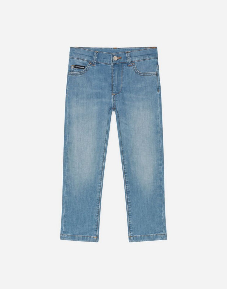 Jeans Slim Stretch Carta Da Zucchero - Dolce & Gabbana Junior