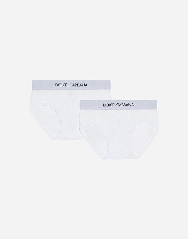 Bi-Pack Slip In Jersey Con Elastico Logato - Dolce & Gabbana Junior
