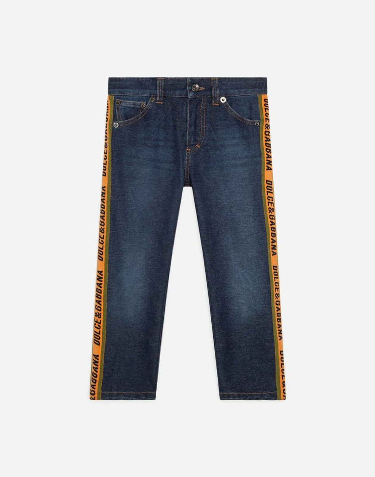 Jeans Baggy In Jersey Denim Stretch - Dolce & Gabbana Junior