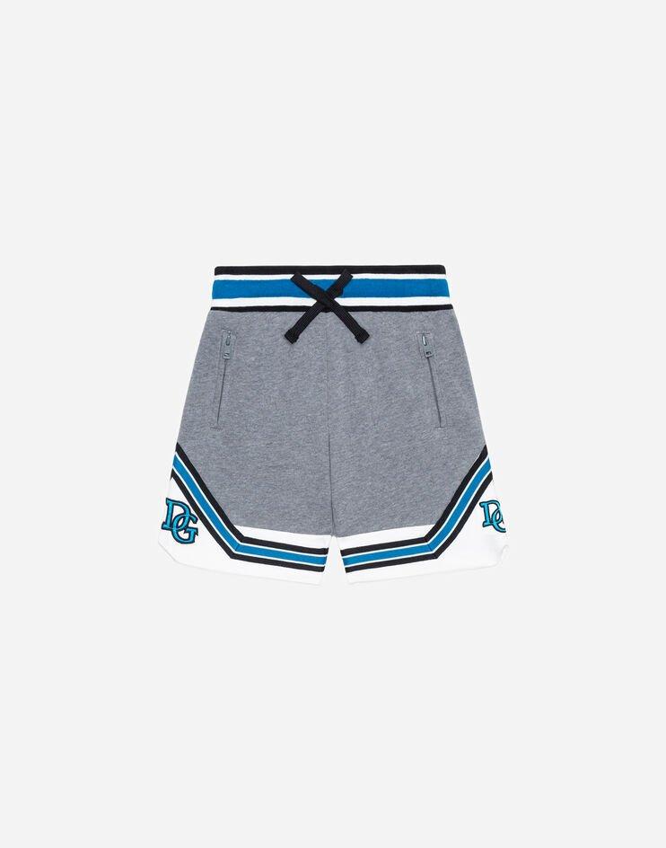 Bermuda Jogging In Jersey Intarsio E Patch - Dolce & Gabbana Junior