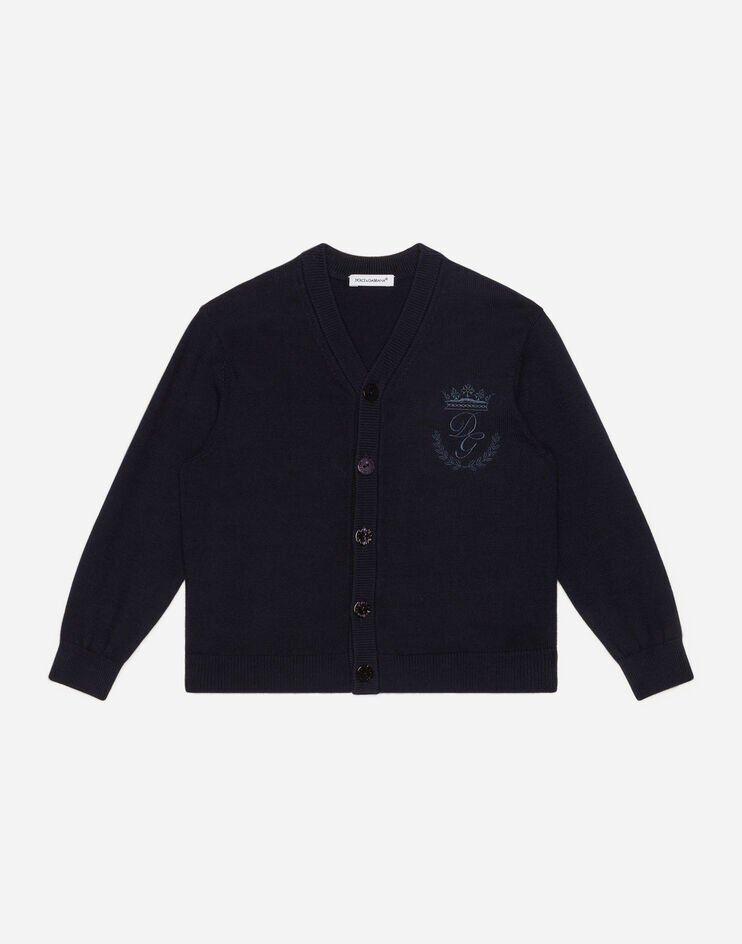 Cardigan In Cotone Ricamo Heritage - Dolce & Gabbana Junior