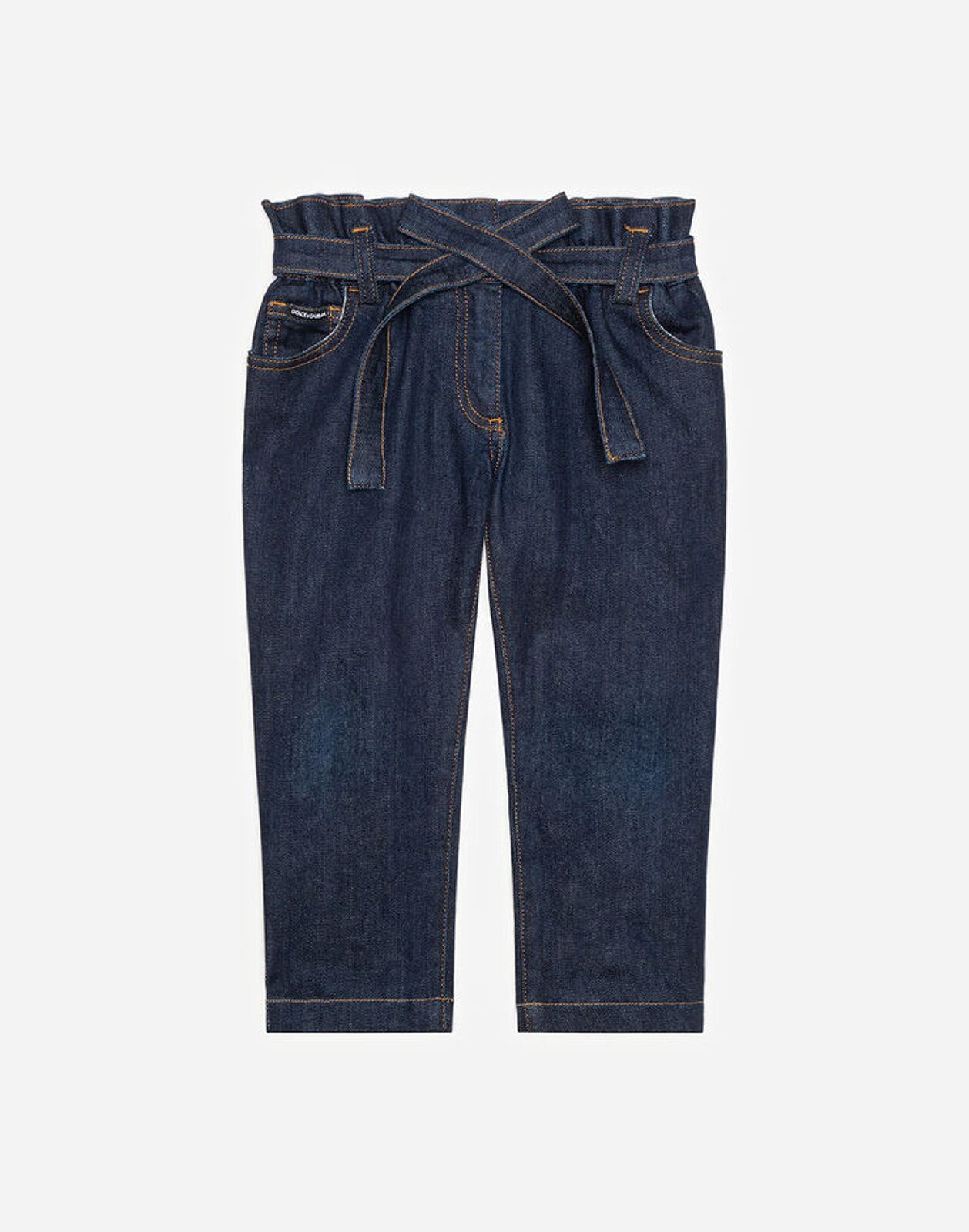 Jeans Stretch Con Cintura - Dolce & Gabbana Junior