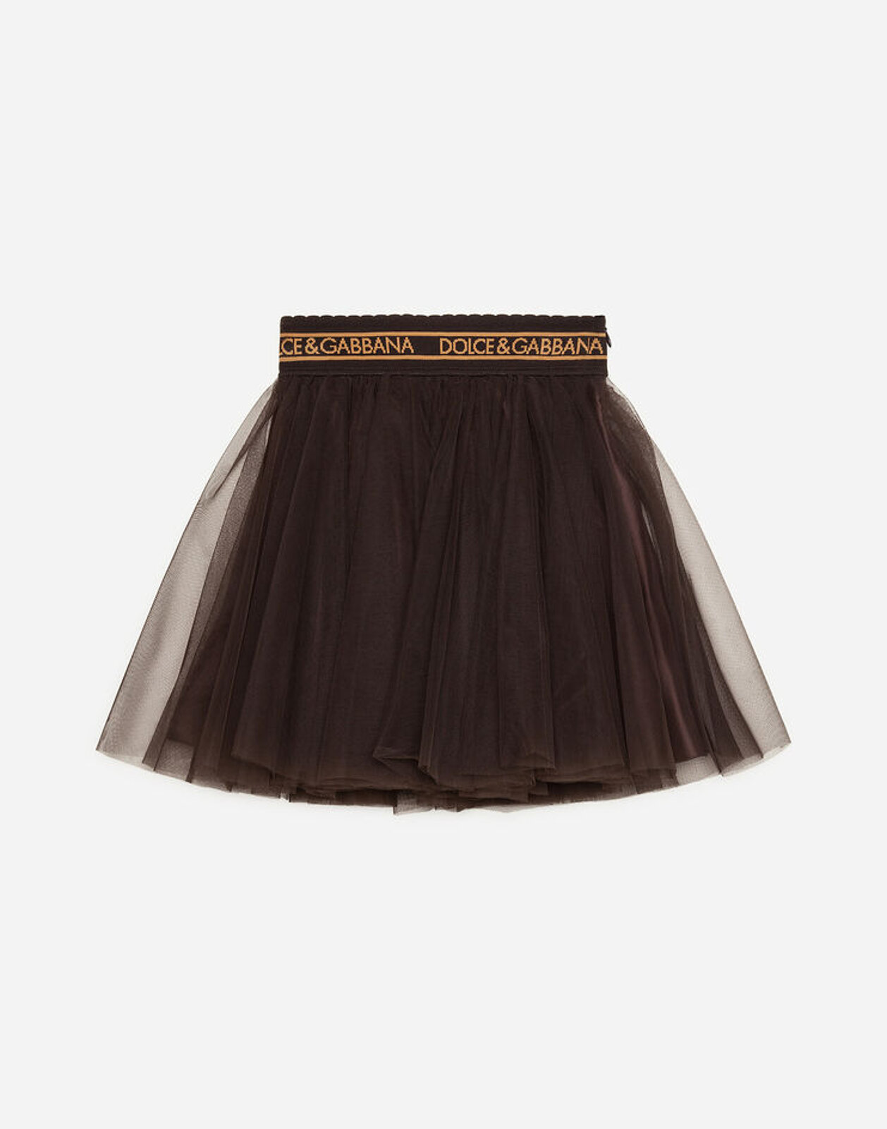 Gonna Midi In Tulle - Dolce & Gabbana Junior