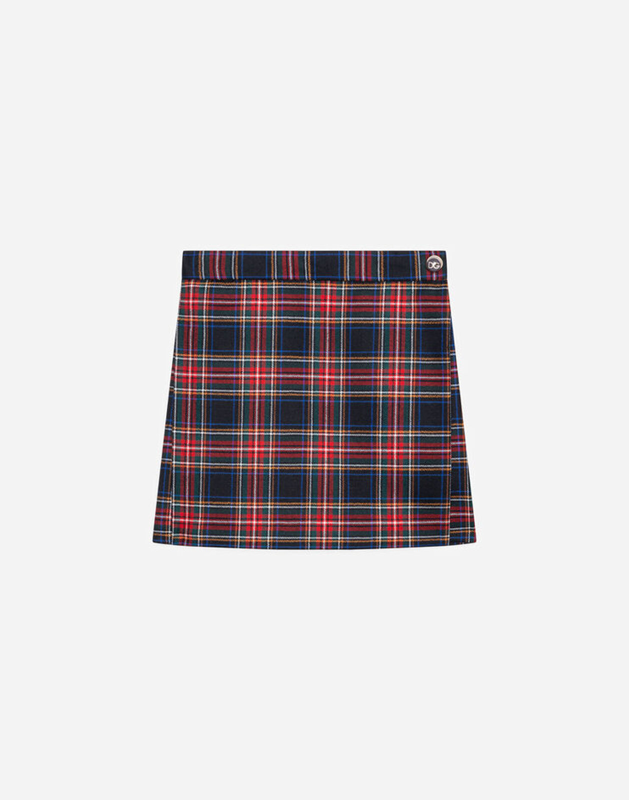 Gonna Corta In Tartan - Dolce & Gabbana Junior